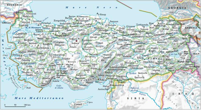 turchia-mappa